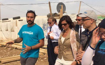Laura Boldrini visita i progetti di INTERSOS in Libano