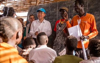 UN Secretary General visits INTERSOS' school in South Sudan