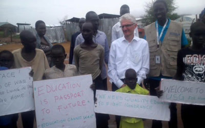 UN Under Secretary General visit to our education projects in South Sudan