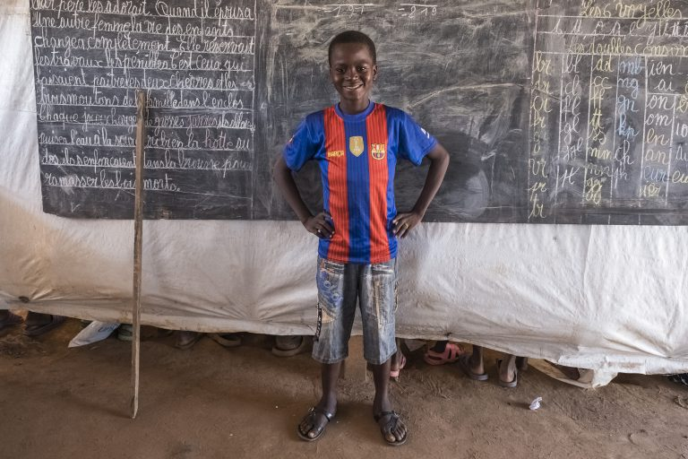 Children living in Central African Republic's displacement camps find a pathway to education