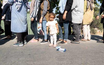 Donne rifugiate a Lesbo, in Grecia